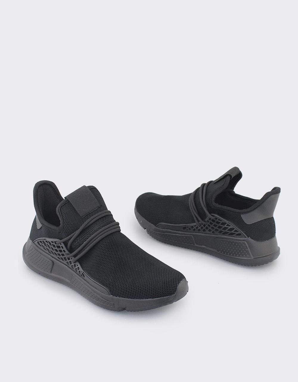 Εικόνα από Ανδρικά sneakers με ανάγλυφα σχέδια Μαύρο