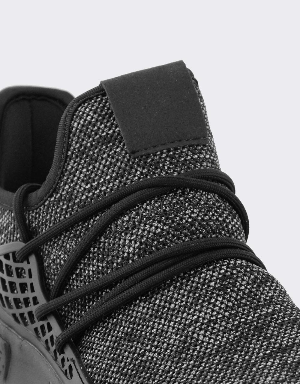 Εικόνα από Ανδρικά sneakers με ανάγλυφα σχέδια Μαύρο/Λευκό