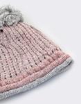 Εικόνα από Γυναικείοι σκούφοι με δίχρωμο σχέδιο Ροζ