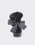Εικόνα από Γυναικεία μποτάκια με φιόγκο στο πίσω μέρος Μαύρο