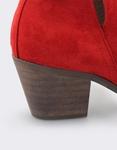 Εικόνα από Γυναικεία μποτάκια με κόψιμο στο πλάι Κόκκινο