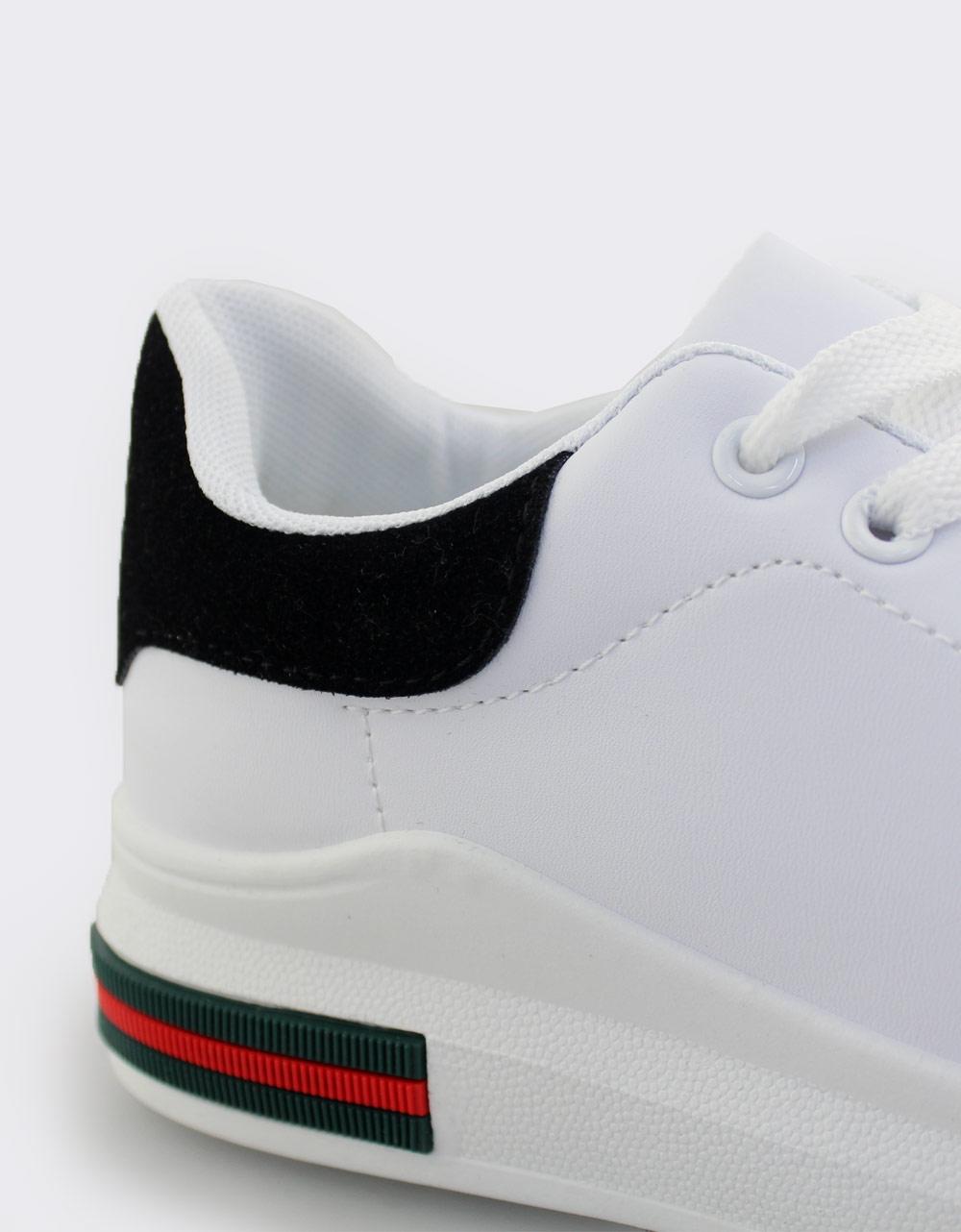 Εικόνα από Γυναικεία sneakers με δίχρωμο σχέδιο Λευκό/Μαύρο