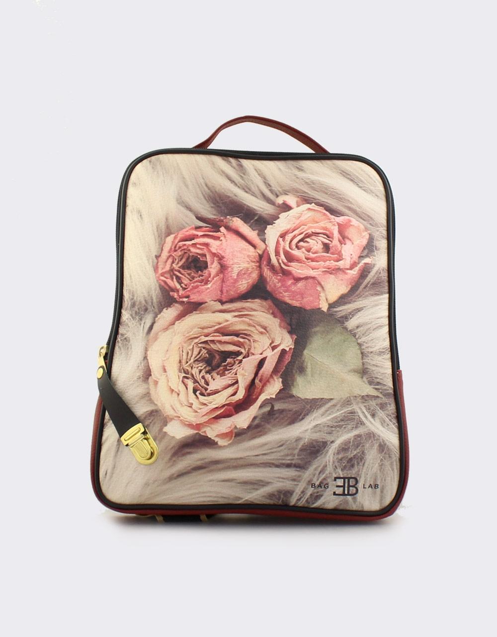 Εικόνα από Γυναικεία σακίδια πλάτης με τριαντάφυλλα Μπορντώ