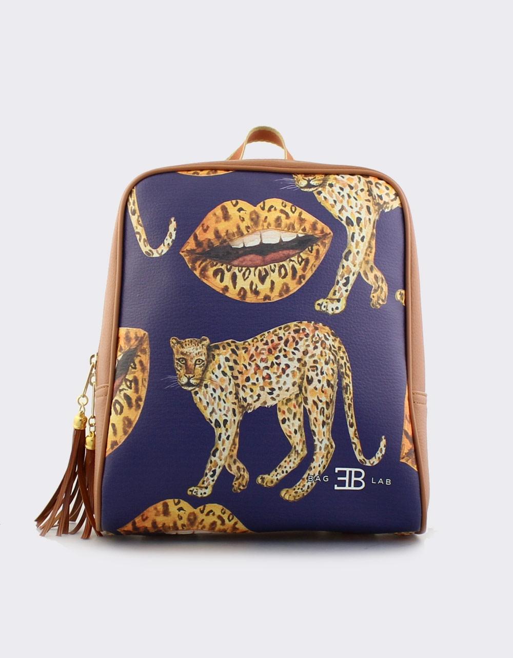 Εικόνα από Γυναικεία σακίδια πλάτης με animal print σχέδια Ταμπά