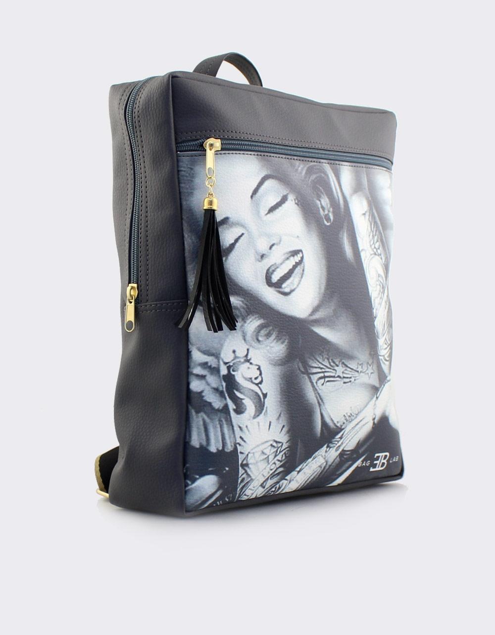 Εικόνα από Γυναικεία σακίδια πλάτης με Merilyn Monroe Γκρι