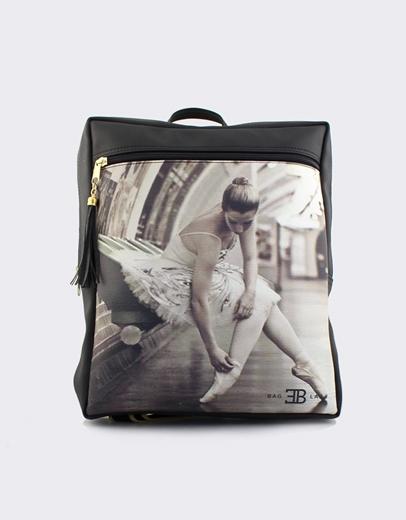 Εικόνα της Γυναικεία σακίδια πλάτης με print μπαλαρίνα Μαύρο 03b6d65e46f
