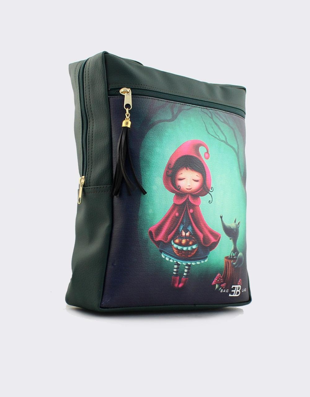 Εικόνα από Γυναικεία σακίδια πλάτης με κοκκινοσκουφίτσα Πράσινο