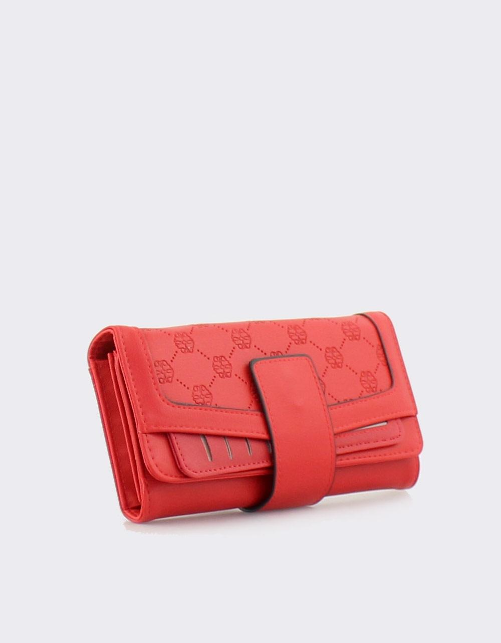6f9165ddb3 Εικόνα από Γυναικεία πορτοφόλια με μοτίβο Κόκκινο