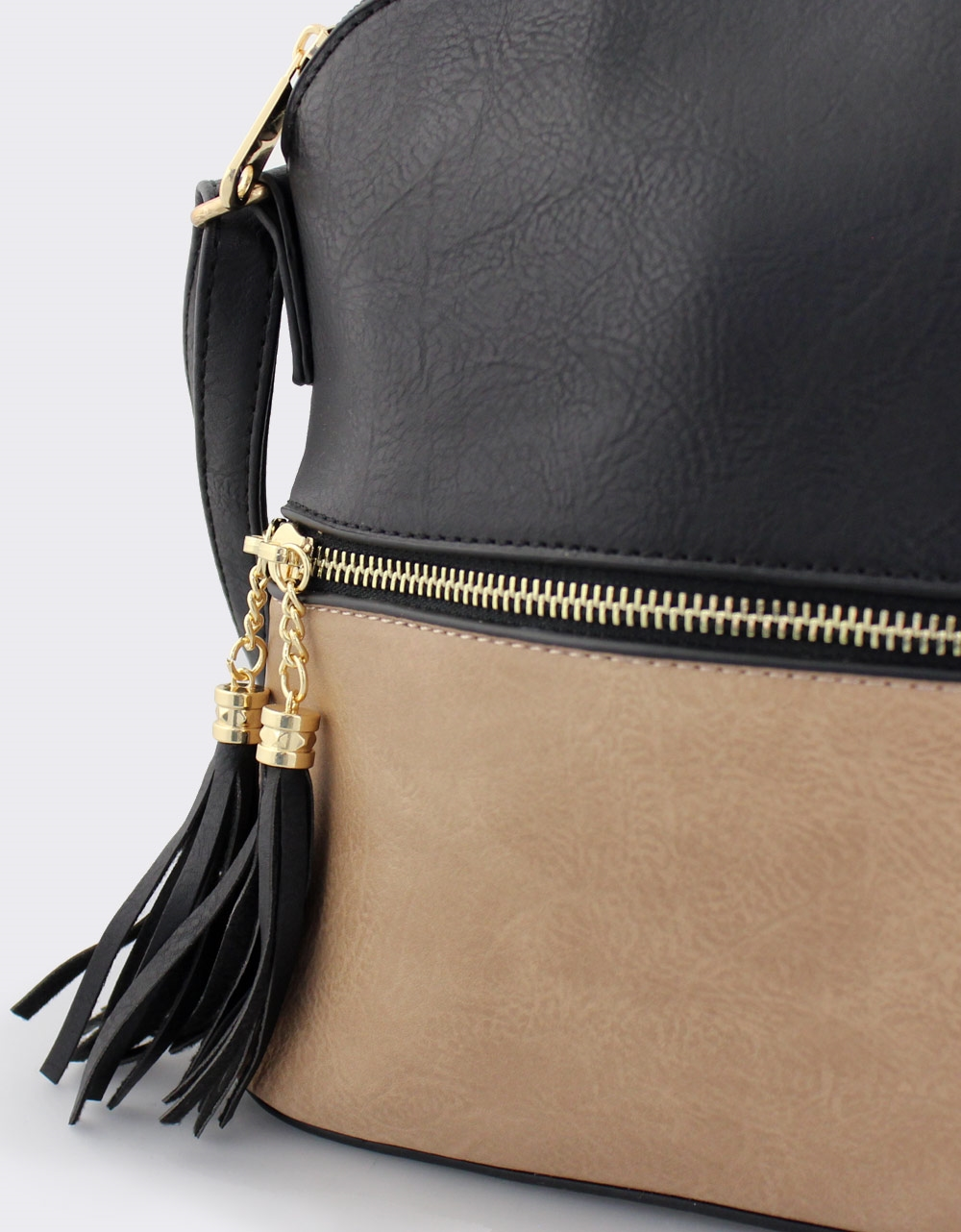 Εικόνα από Γυναικείες τσάντες ώμου δίχρωμες Μαύρο