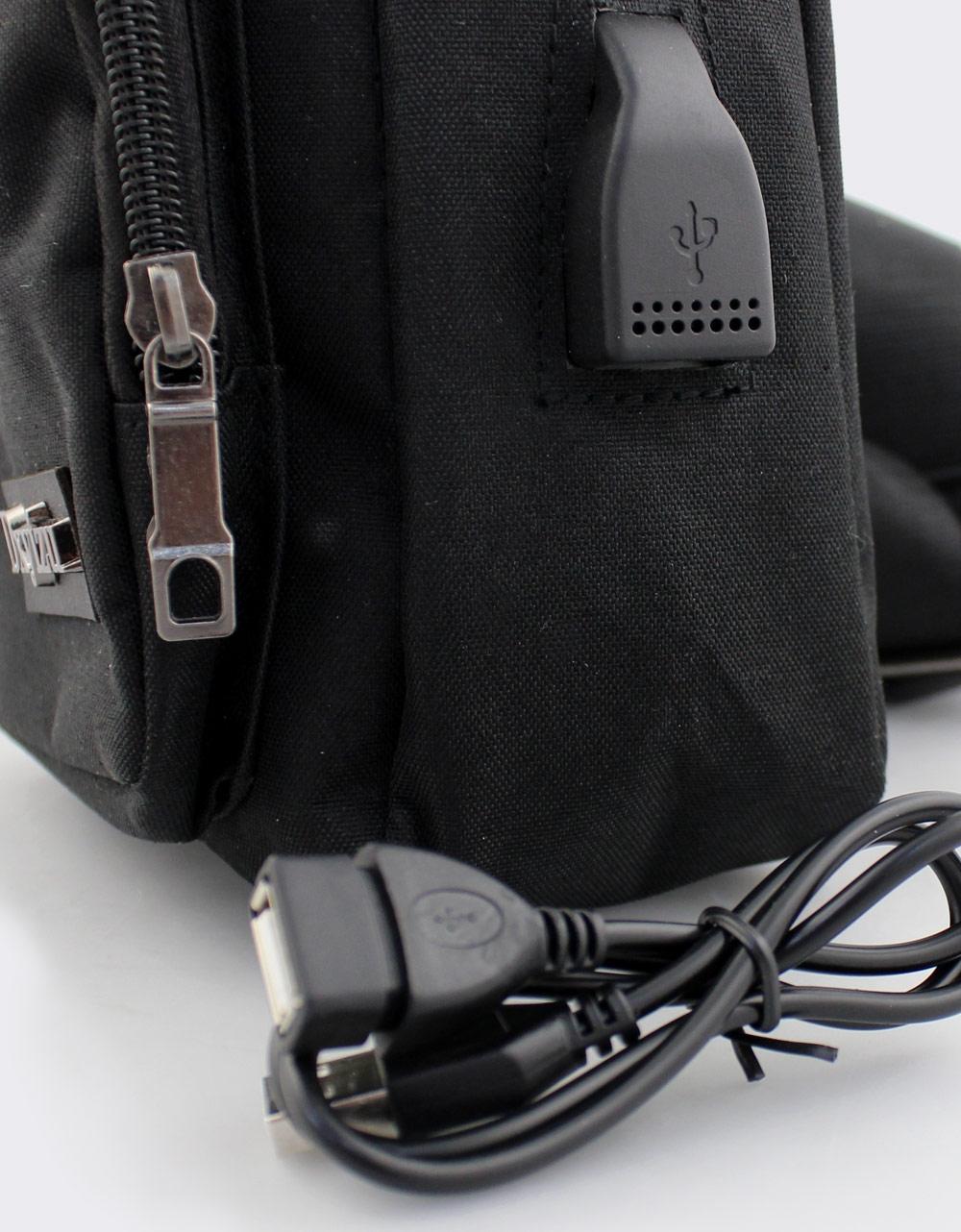 Εικόνα από Ανδρικές τσάντες ώμου με λογότυπο Μαύρο
