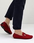 Εικόνα από Ανδρικά loafers σε απλή γραμμή Κόκκινο