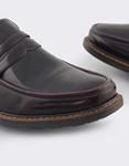 Εικόνα από Ανδρικά loafers σε απλή γραμμή Μπορντώ