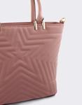 Εικόνα από Γυναικείες τσάντες χειρός με ανάγλυφο αστέρι Ροζ