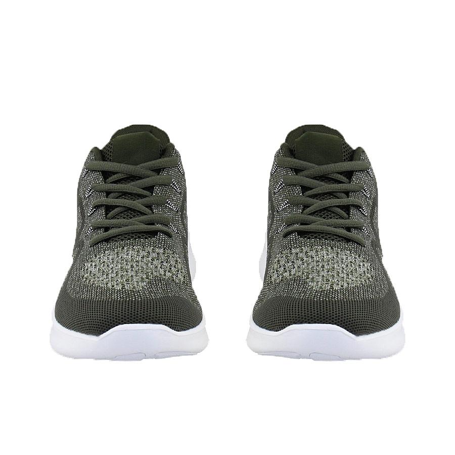 Εικόνα από Ανδρικά sneakers δίχρωμα με γκοφρέ μοτίβο Λαδί