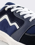 Εικόνα από Ανδρικά sneakers με χρωματιστές λεπτομέρειες Navy