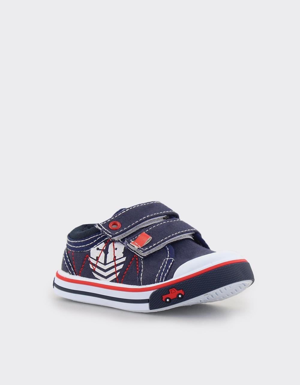 Εικόνα από Παιδικά sneakers με διπλά αυτοκόλλητα Navy