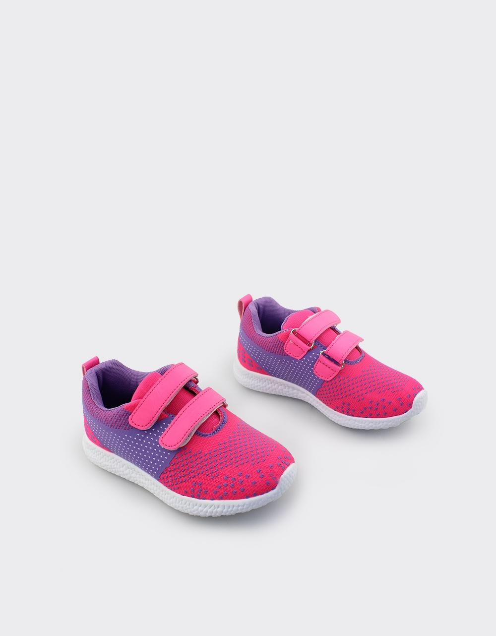 Εικόνα από Παιδικά αθλητικά με διπλό αυτοκόλλητο Ροζ