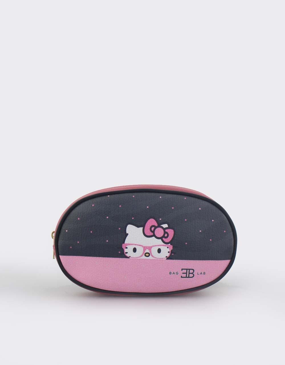 Εικόνα από Γυναικείες τσάντες μέσης πουά με Hello Kitty Ροζ