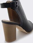 Εικόνα από Γυναικεία πέδιλα peep toe με τοκά Μαύρο