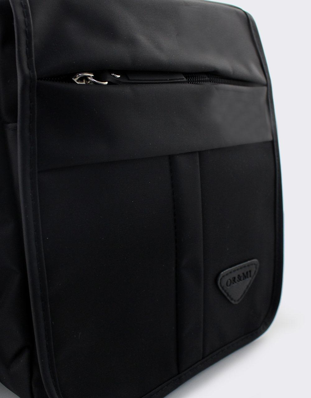 a30e8adb0ae Ανδρικές τσάντες ώμου με εξωτερικές θήκες Μαύρο