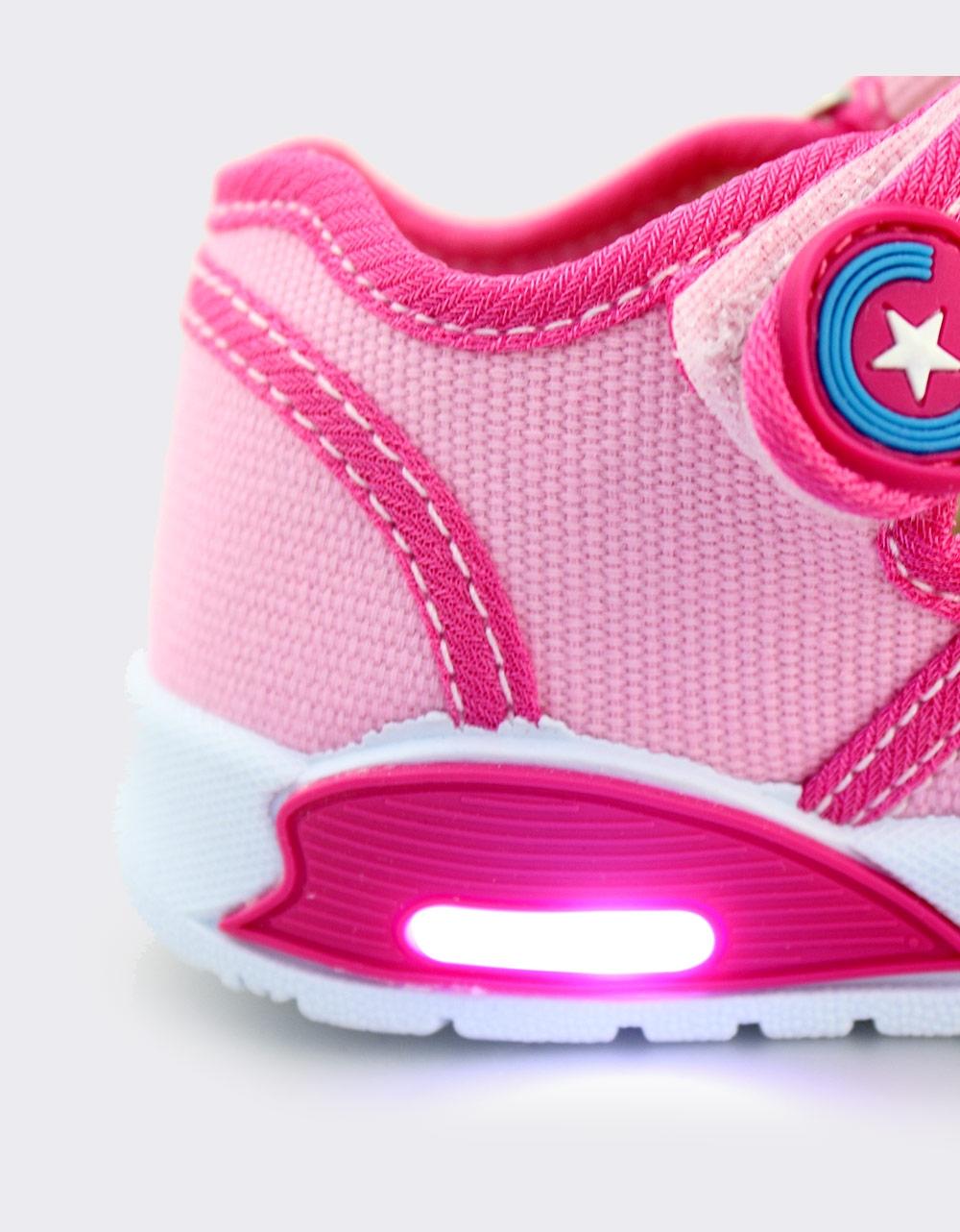 Εικόνα από Παιδικά πέδιλα με φωτάκια Ροζ