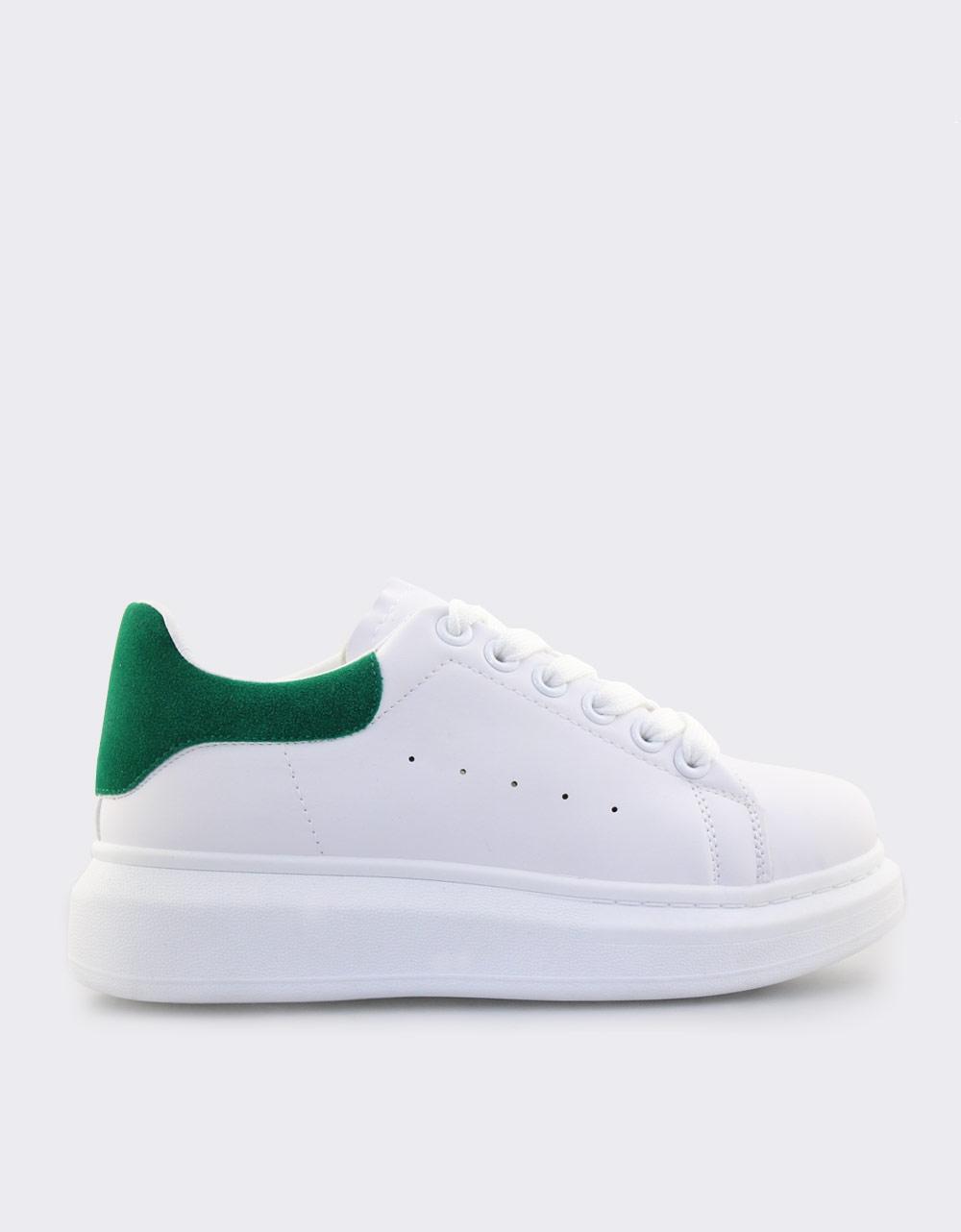 Εικόνα από Γυναικεία sneakers δίχρωμα Λευκό/Πράσινο