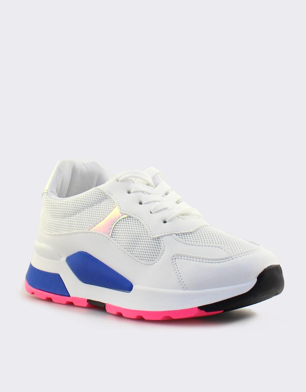 Εικόνα από Γυναικεία sneakers με τρίχρωμη σόλα Λευκό