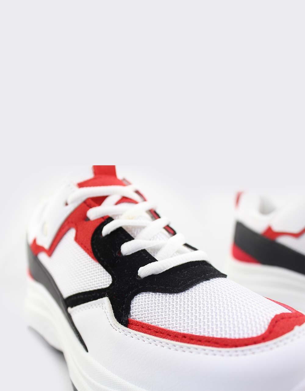 Εικόνα από Γυναικεία sneakers τρίχρωμα Λευκό