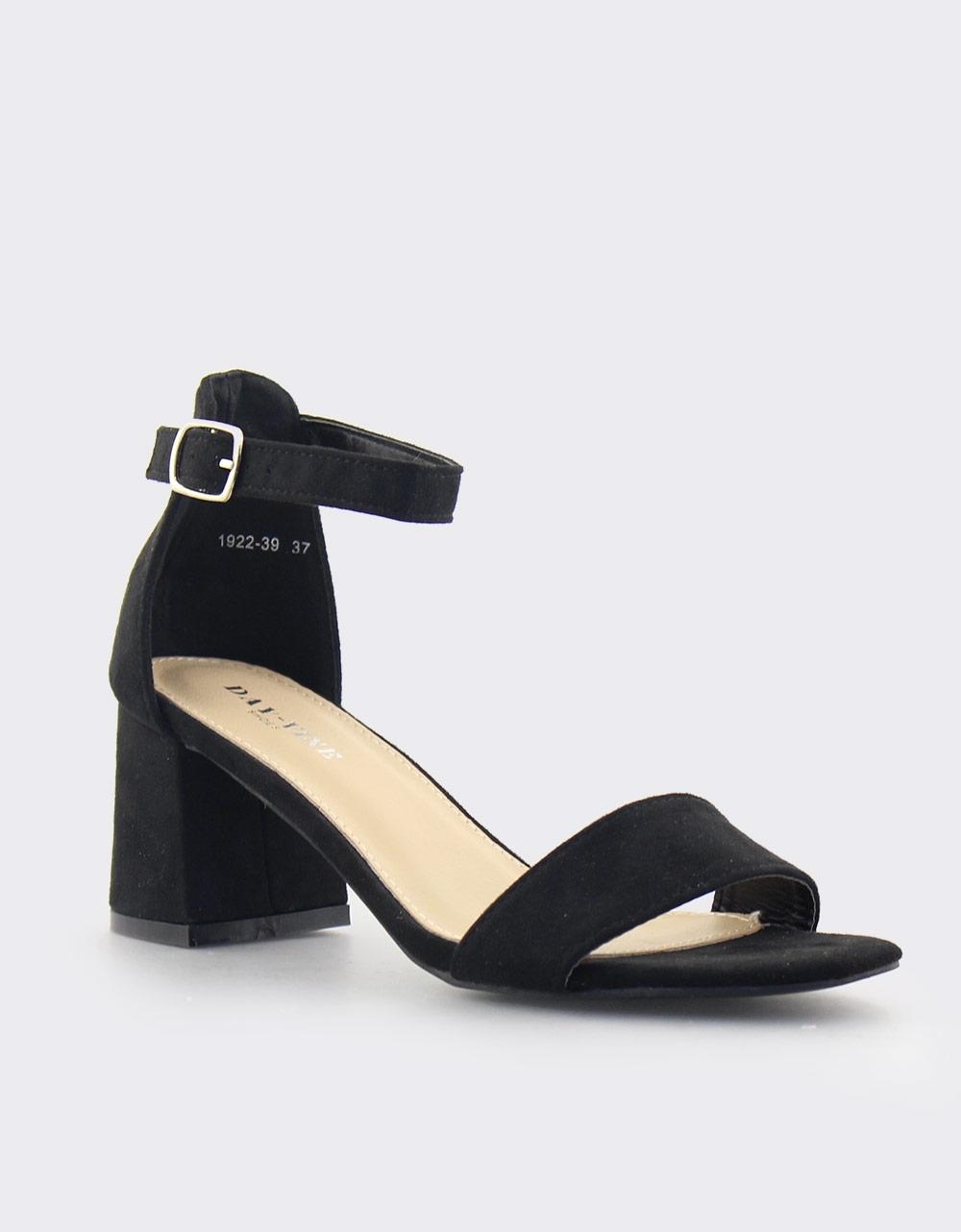 e86fe5fcc9a Inshoes.gr. Γυναικεία πέδιλα με καρέ τακούνι   Inshoes.gr Μαύρο