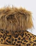 Εικόνα από Γυναικεία μποτάκια με αποσπώμενο γουνάκι Λεοπάρ
