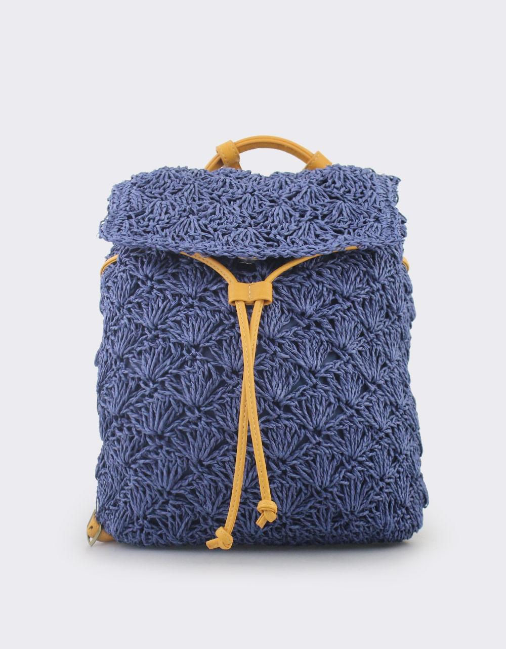 57bafe07d4 Εικόνα από Γυναικεία σακίδια πλάτης πλεκτά Μπλε