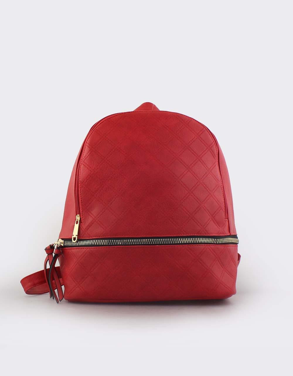 Εικόνα από Γυναικεία σακίδια πλάτης με μοτίβο Κόκκινο