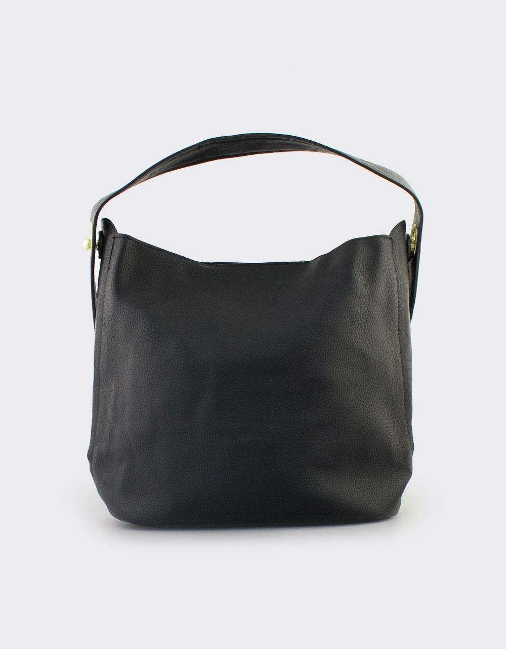 c7704165c7 Εικόνα από Γυναικείες τσάντες ώμου με εσωτερικό τσαντάκι Μαύρο
