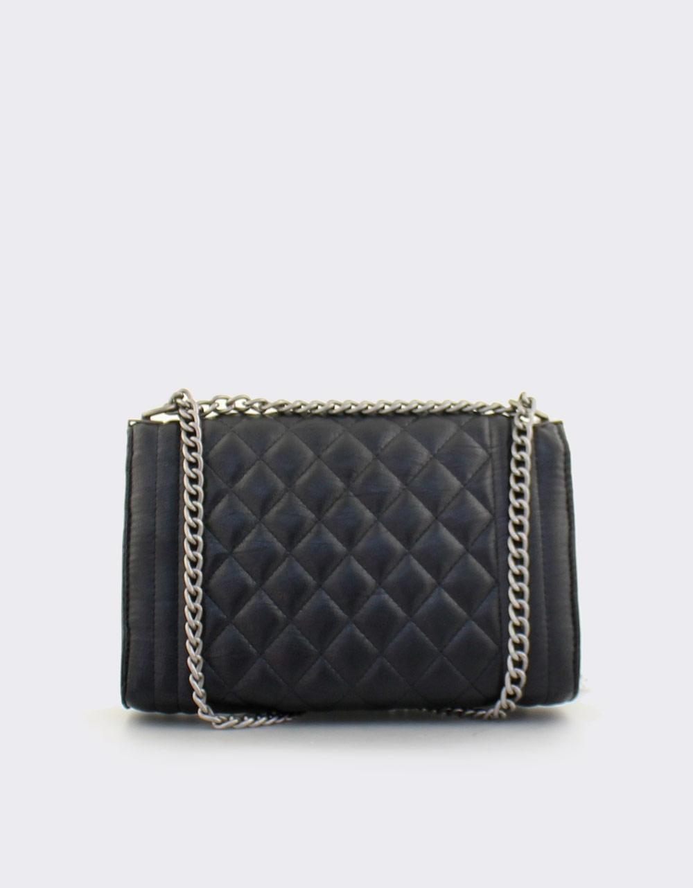 85167f2302 Εικόνα από Γυναικείες τσάντες ώμου καπιτονέ με αλυσίδα Μαύρο