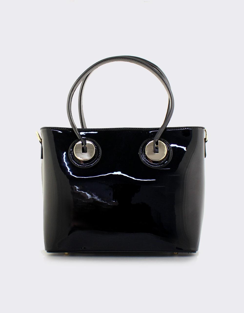 Εικόνα από Γυναικείες τσάντες χειρός λουστρίνι Μαύρο