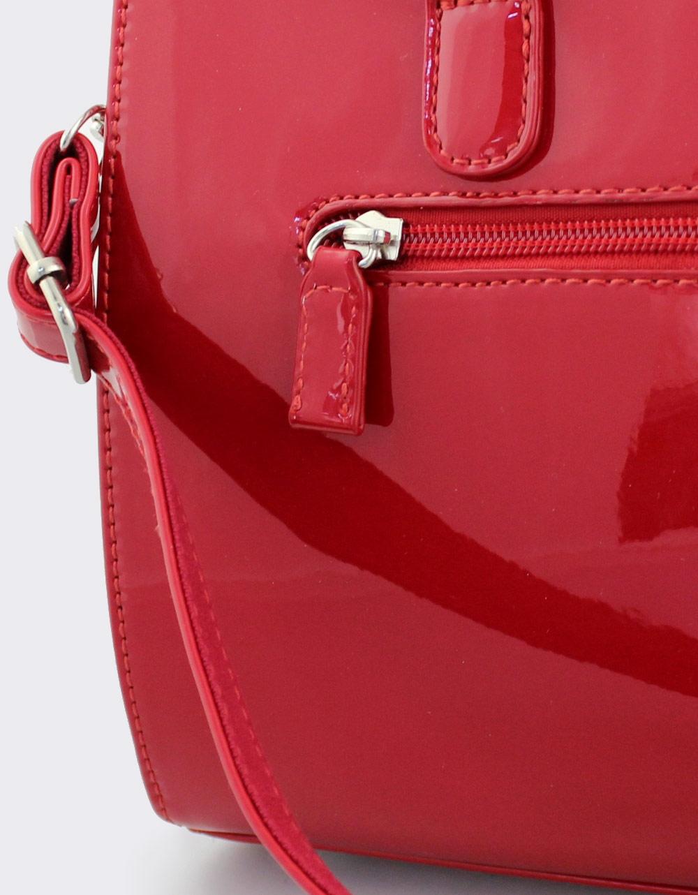 Εικόνα από Γυναικείες τσάντες χειρός λουστρίνι Κόκκινο