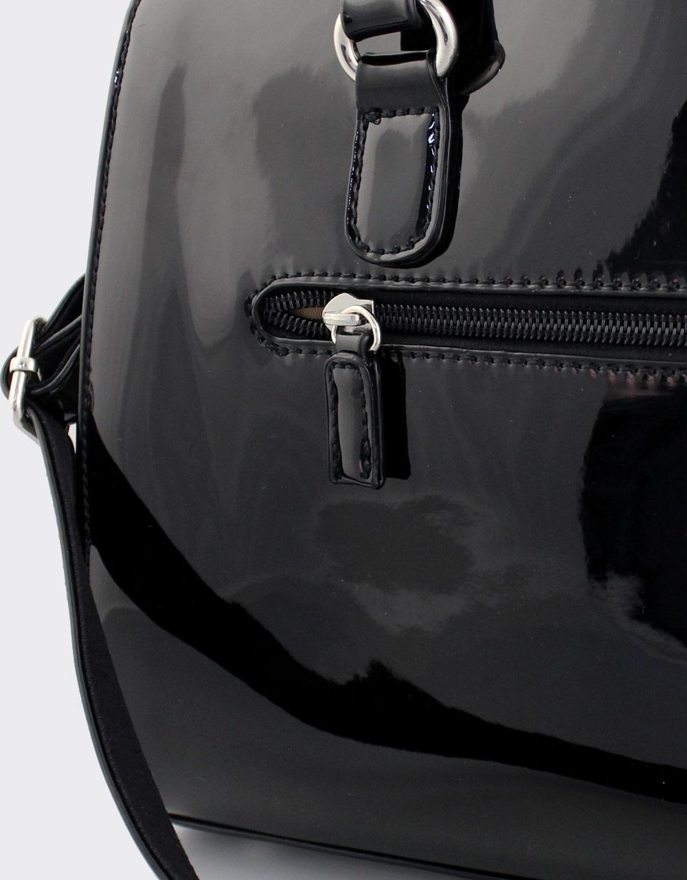 a457d0f45b Εικόνα από Γυναικείες τσάντες χειρός λουστρίνι Μαύρο