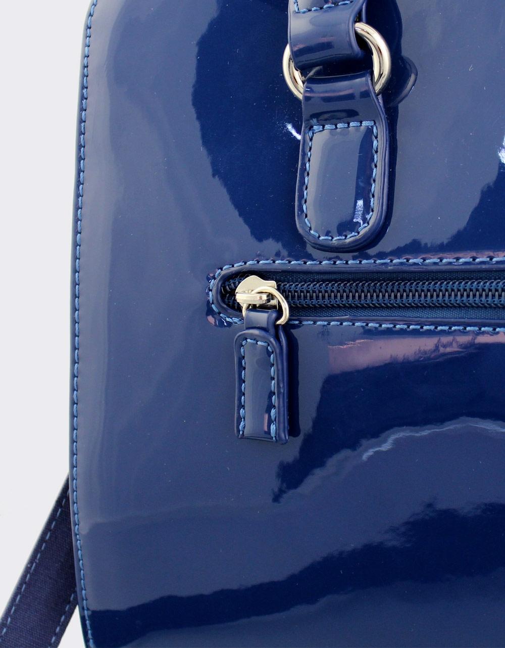 3fde5007dc Εικόνα από Γυναικείες τσάντες χειρός λουστρίνι Μπλε