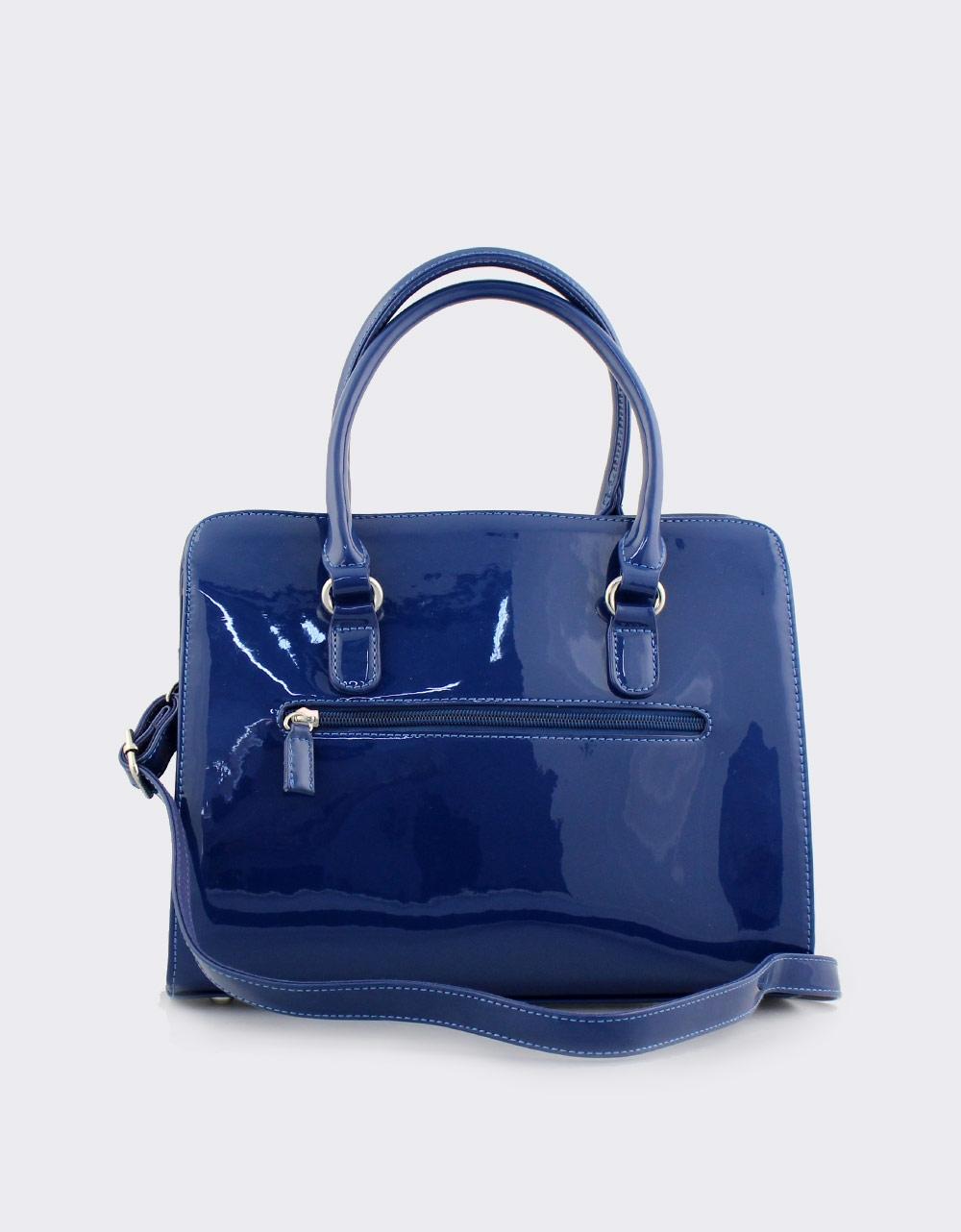 Εικόνα από Γυναικείες τσάντες χειρός λουστρίνι Μπλε