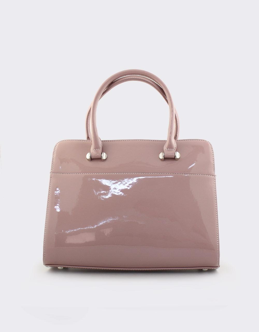 Εικόνα από Γυναικείες τσάντες χειρός λουστρίνι Ροζ