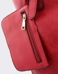Εικόνα από Γυναικείες τσάντες χειρός με φουλάρι Κόκκινο