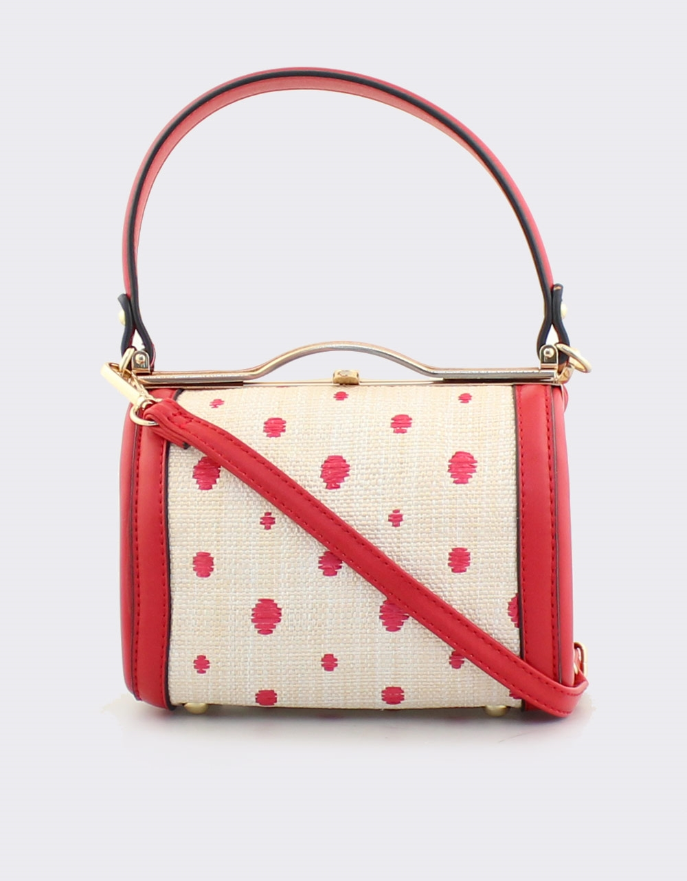 cd72e09858 Εικόνα από Γυναικείες τσάντες χειρός με πουά μοτίβο Κόκκινο