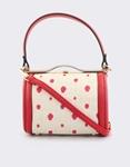 Εικόνα από Γυναικείες τσάντες χειρός με πουά μοτίβο Κόκκινο