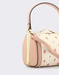 Εικόνα από Γυναικείες τσάντες χειρός με πουά μοτίβο Ροζ
