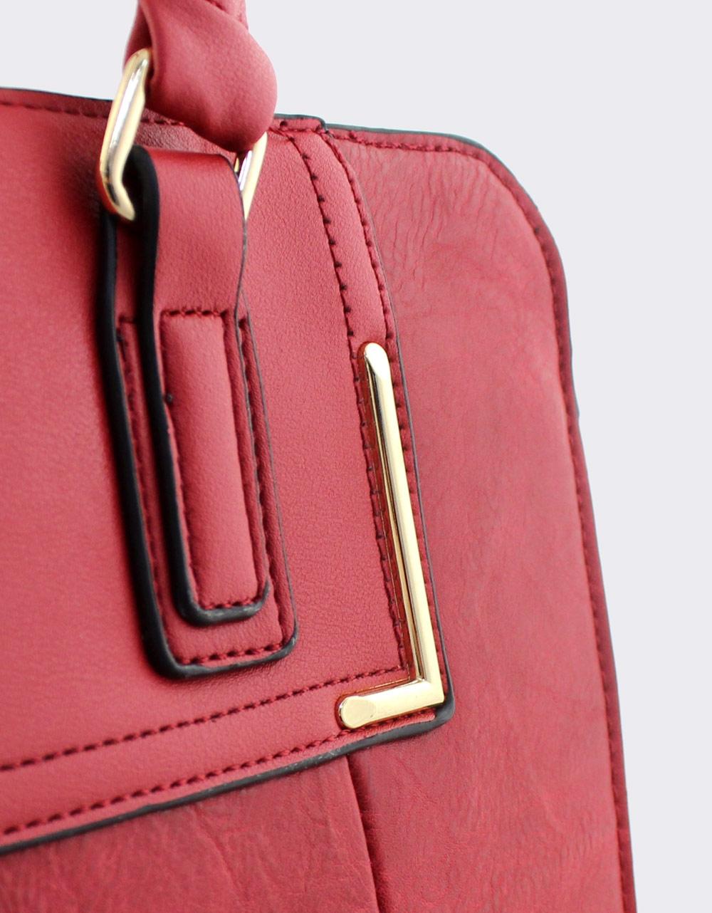 Εικόνα από Γυναικείες τσάντες χειρός με λουράκι Κόκκινο