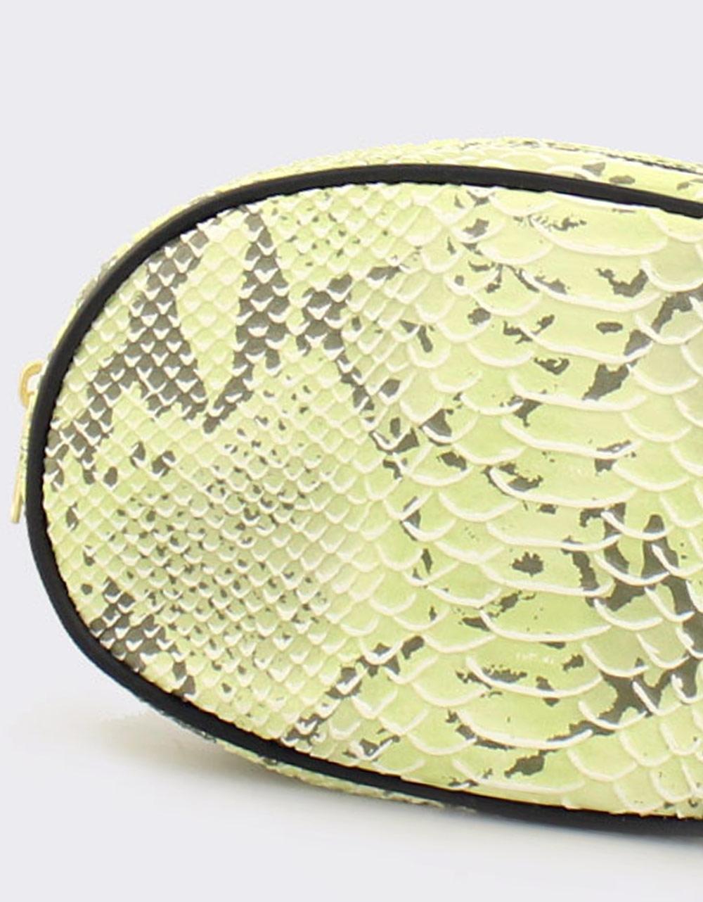 Εικόνα από Γυναικείες τσάντες μέσης snake skin Πράσινο