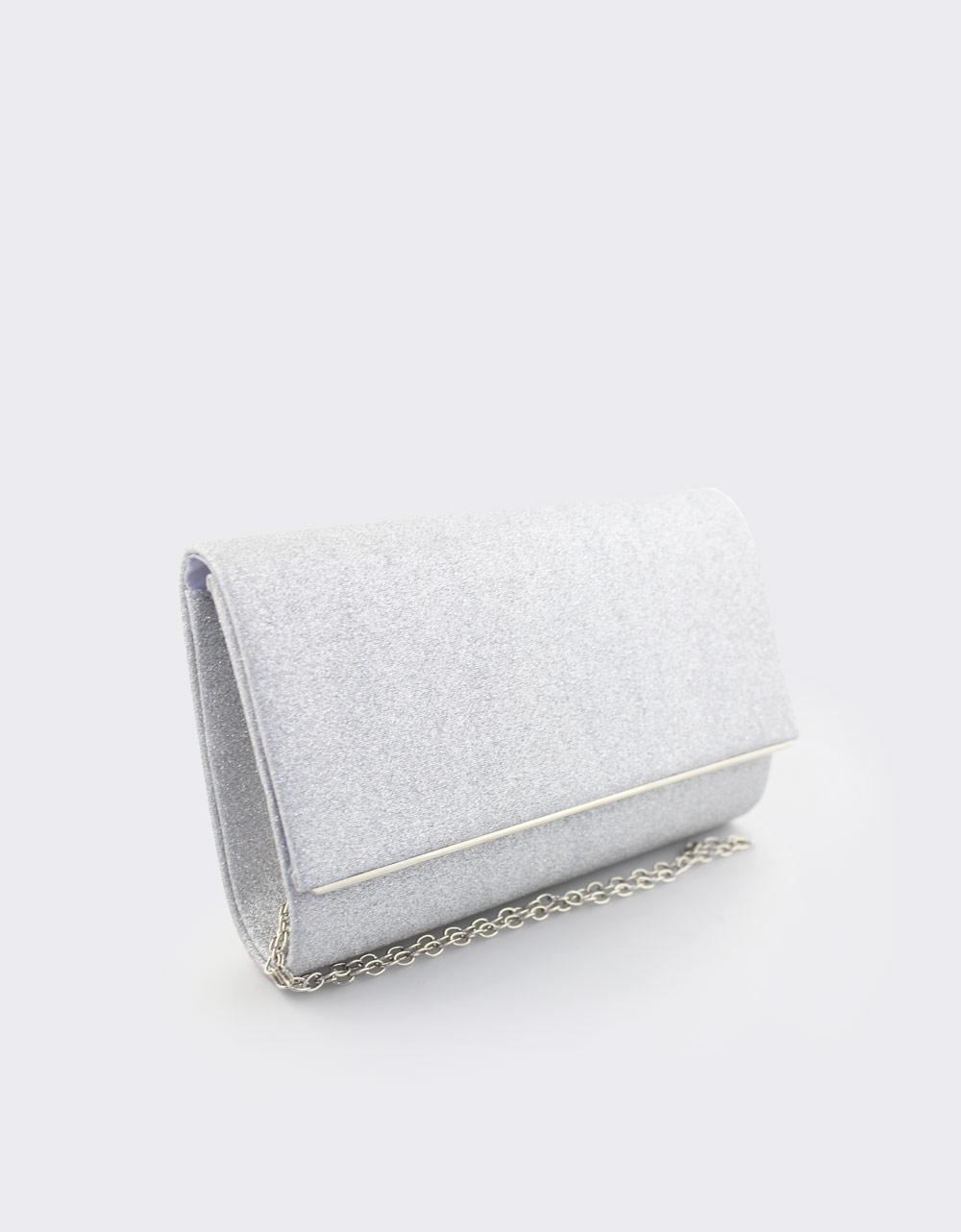 Εικόνα από Γυναικείοι φάκελοι με glitter Ασημί
