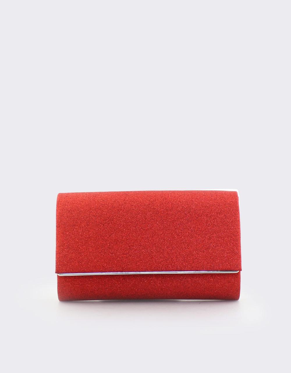Εικόνα από Γυναικείοι φάκελοι με glitter Κόκκινο