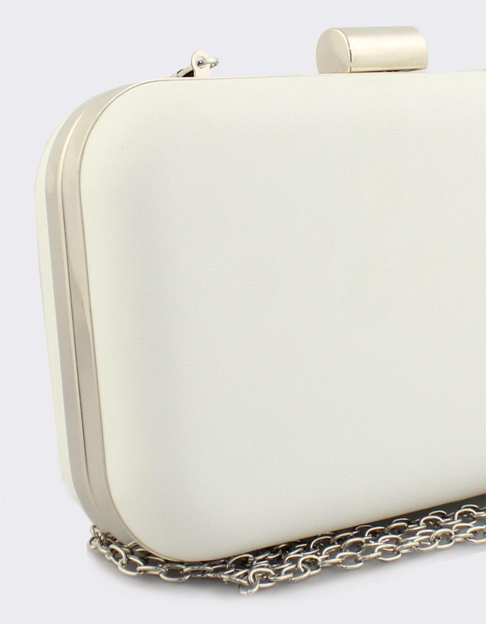 Εικόνα από Γυναικείοι φάκελοι clutch μονόχρωμοι Λευκό