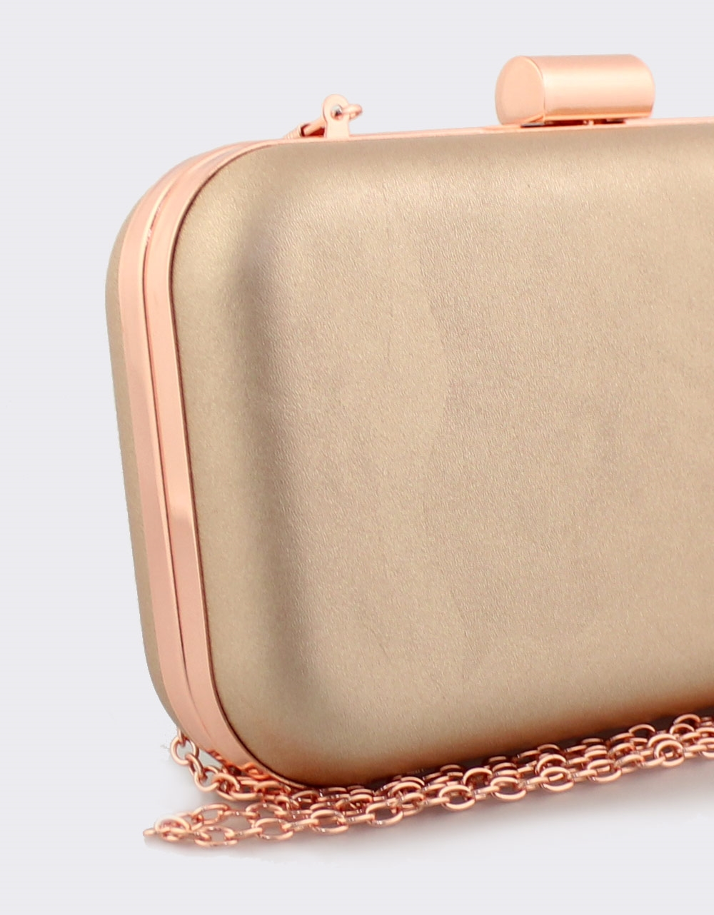 Εικόνα από Γυναικείοι φάκελοι clutch μονόχρωμοι Σαμπανί